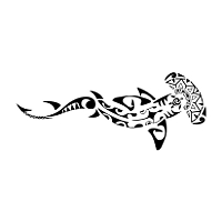 Glamorous Tribal Hammerhead Shark Tattoo Design Ideas