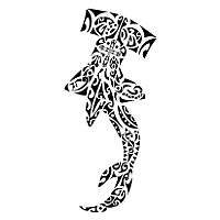 Tribal Hammerhead Shark Tattoo Design Style