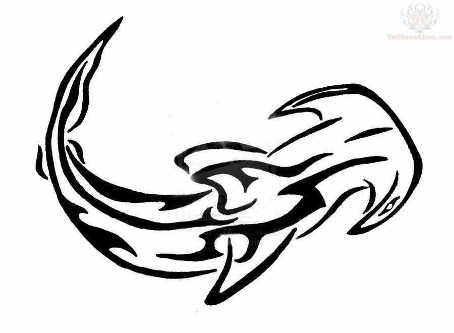 Inspirational Tribal Hammer Head Shark Tattoo Ideas