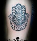 Halfsleeve Hippestink Hamsa Hand Tattoo