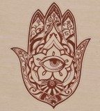 Indian-Fusion Hamsa Tattoo