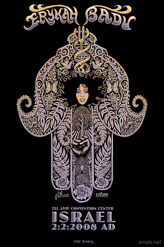 Erykah Badu Tatto Sketch Design