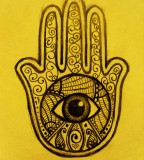 Hamsa Tattoo Design Sample
