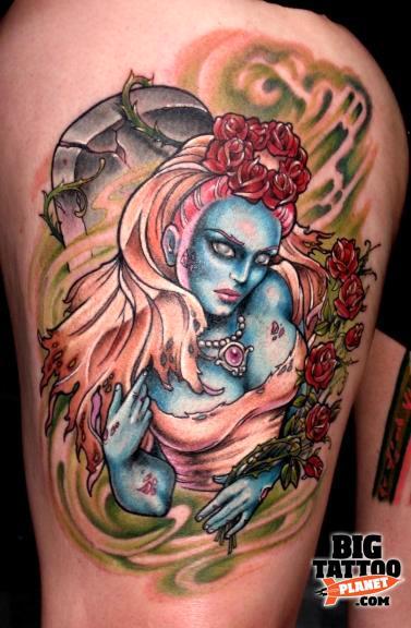 Creative Unique Hannah Aitchison Colour Tattoo