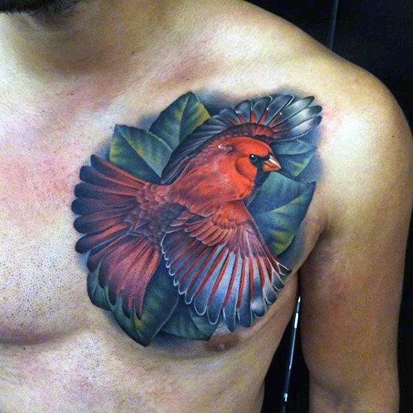 happy bird tattoos for men