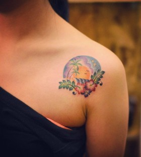 hawaii-shoulder-tattoo