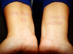 Quotes White Ink Tattoo