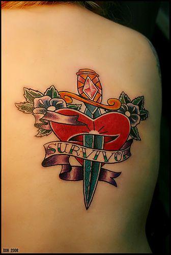 Remarkable Heart And Dagger Tattoo Wallpaper