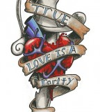 Excellent Heart With Dagger Tattoo Inspiration Picture