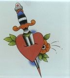 Splendid Heart And Dagger Tattoo Design Image