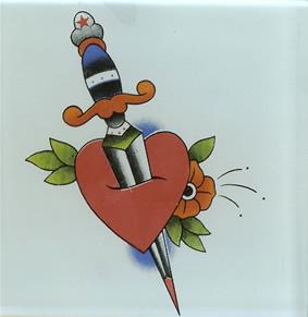 Splendid Heart And Dagger Tattoo Design Image