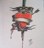 Wonderful True Love Heart Amp Dagger Tattoo Art