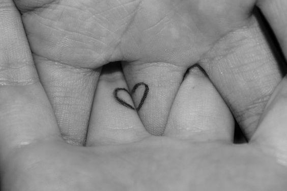 heart couples tattoos