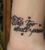 Inspirational Tattoos Design on Wrist