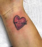 Beautiful Heart Tattoo For Girls, The Sing Of Love Heart