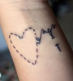 Heart Needle Tattoo Thread Wrist Inspiring Picture