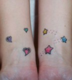 Stars Amp Hearts On Wrists Heart Tattoo
