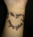 Heart Of Words  Tattoo Picture On Hand