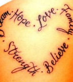 Heart Tattoos Picture And Love Words