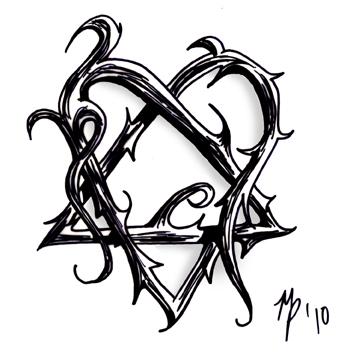 Barney Stinson Cubeecraft Heartagram Tattoo
