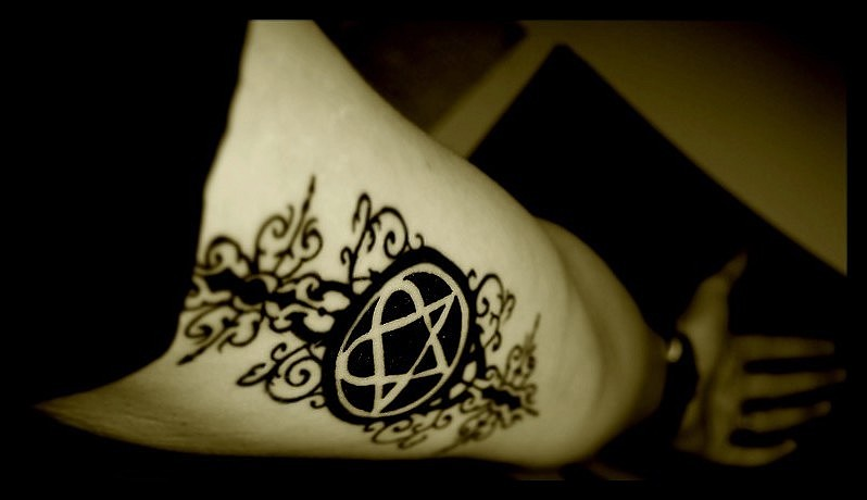 Awesome Heartagram Tattoo for Arm By Darkswall0w