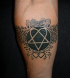 Heartagram Tattoo for Arm By Trancton