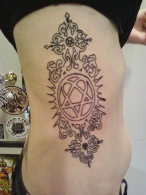 Him Heartagram Tattoo By Mandychronic