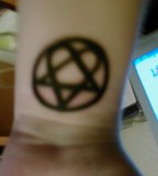 New Heartagram Tattoo Photo from Lozzie1988s