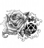 Rose Heartagram By Nataliarey