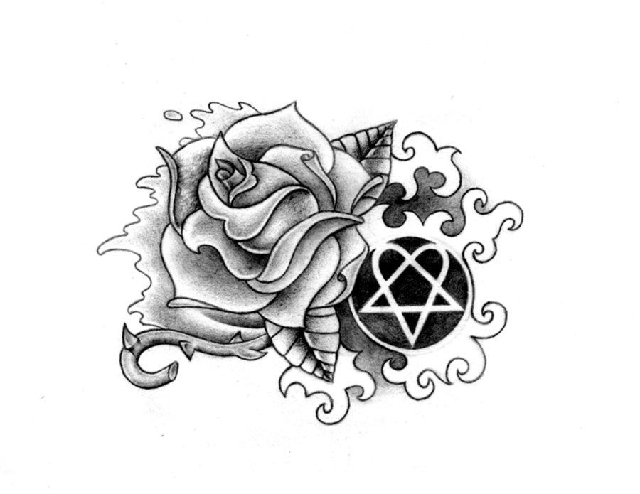 Rose Heartagram By Nataliarey