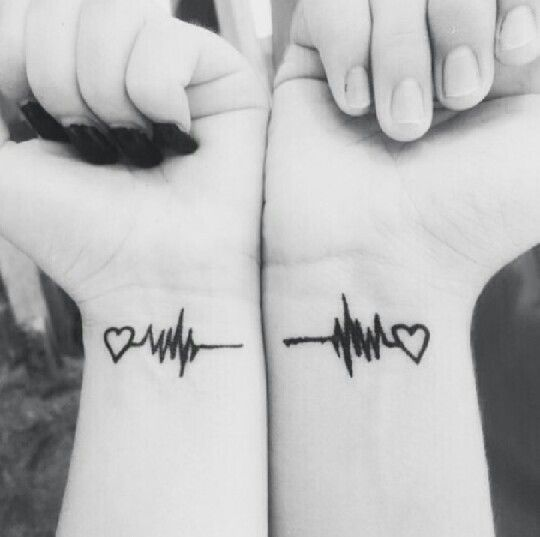 heartbeat couples tattoos