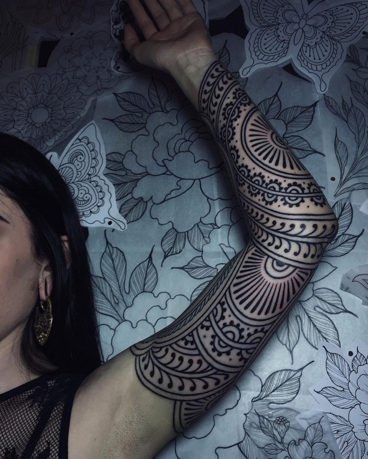 henna-inspired-full-sleeve-tattoo-by-savannahcolleen