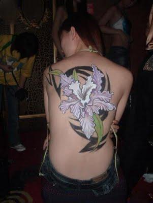 Art Tattoo Hawaiian Flower Tattoos Orchid Plumeria