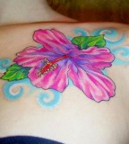 Expressing Pink Tattoos On Girl Chest