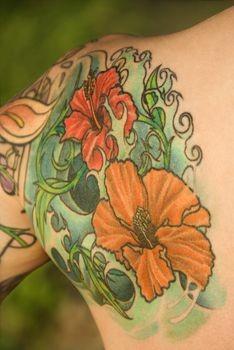 Tropical Flower Tattoo Design