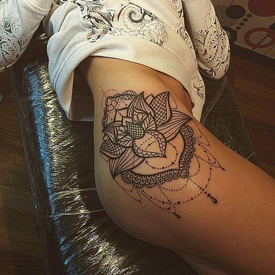 hip mandala tattoo