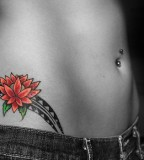 Impressive Hip Tattoo Design For Women