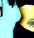 Stylish Hip Tattoo Design for Girls
