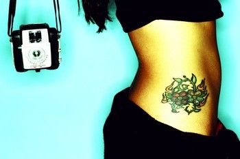 Stylish Hip Tattoo Design for Girls