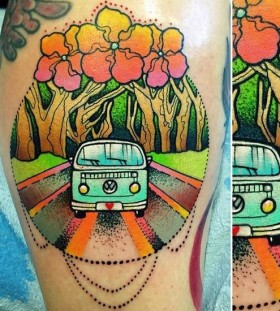 hippy van tattoo