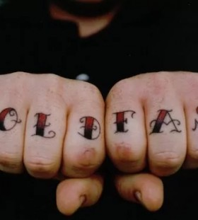 hold fast finger tattoos for men