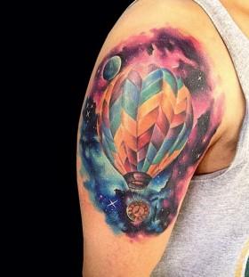 hot-air-balloon-tattoo-by-adrian-bascur