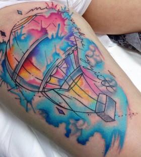 hot-air-balloon-tattoo-by-felipe-bernardes