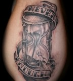 Never Enough Hourglass Tattoo Design