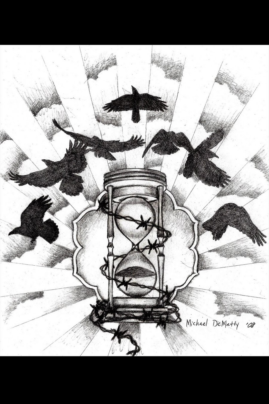 Hourglass Tattoo Design Ideas for Half Sleeve