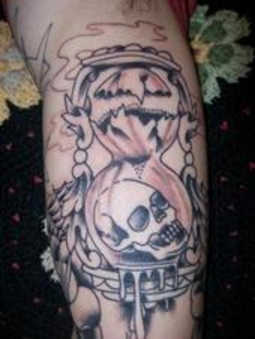 Cool Hourglass Tattoo Design