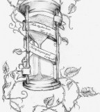 Branches Hourglass Sketch Tattoo Ideas