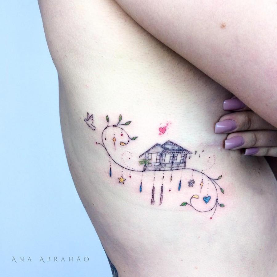 house-tattoo-by-abrahaoana