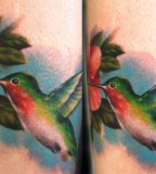 Twin Hummingbird Tattoo Designs