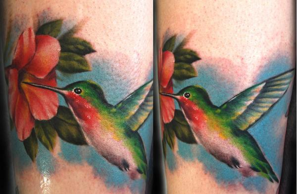 Twin Hummingbird Tattoo Designs